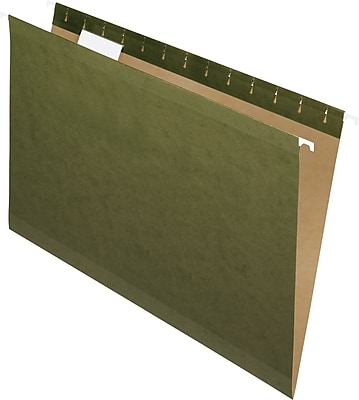 Pendaflex® Standard Green Hanging File Folders, Legal Size, Straight-Cut, No Tabs