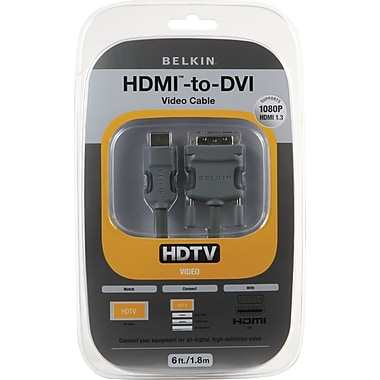 Belkin HDMI Interface-to-DVI Video Cable, 6'