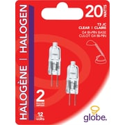 Globe G4 Halogen Bulbs, 20W, 2/Pack