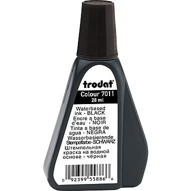 Trodat® Premium Stamp Pad Ink, #7011, 28mL Bottle, Black