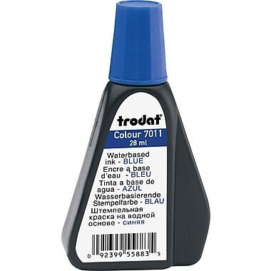 Trodat® - Encre de luxe pour tampon encreur, n° 7011, flacon de 28 ml, bleue