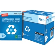 Staples 50% Recycled Heavyweight Multipurpose Paper, Half Case