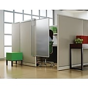 "Quartet Non-Tackable Workstation Privacy Screen, 48""H x 36""W, Translucent, Polycarbonate (WPS1000)"