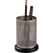 Rolodex™ Distinctions Punched Metal & Wood Pencil Holder