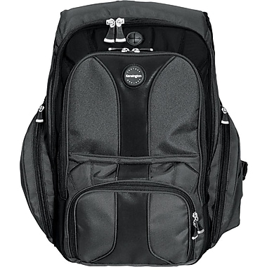Kensington® Black Ballistic Nylon Contour Backpack For 17