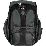 "Kensington® Black Ballistic Nylon Contour Backpack For 17"" Notebook, (62238)"
