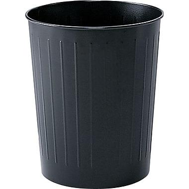 Safco® Round Wastebasket, Black