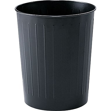 Safco® Fireproof Round Wastebasket, Black