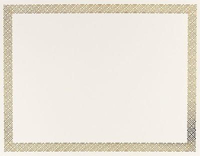 Gold Foil Certificates, Braided Border, 15 Per Pack