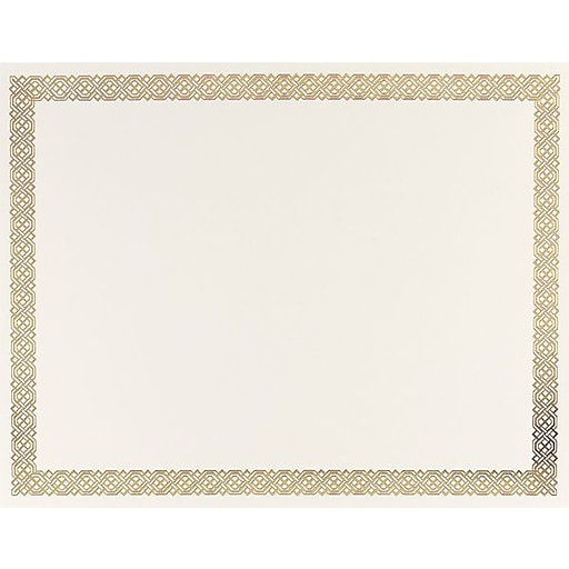 great papers gold braided foil border certificate 15 pack staples