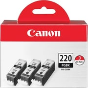 Canon PGI-220 Black Ink Cartridges (2945B004), 3/Pack