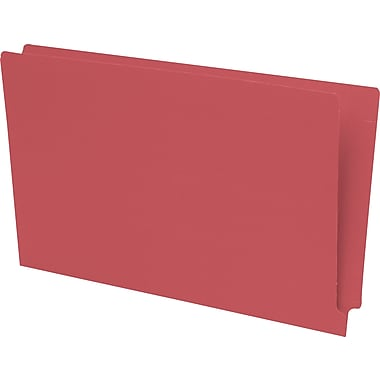 Pendaflex® Reinforced Coloured End-Tab File Folders, Legal Size, Red