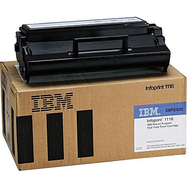 IBM/InfoPrint 28P2420 Return-Program Black Toner Cartridge, High Yield