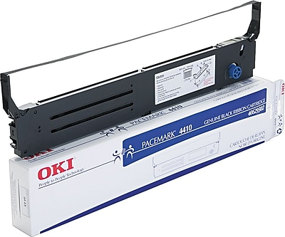 Okidata 40629302 black nylon printer ribbon