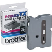"Brother TX2111 1/4"" Tape, Black on White"