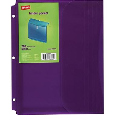 Staples® Binder Pocket (13742-CC)