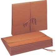 "Smead Wallet, 5.25"" Expansion, Flap with Cloth Tie Closure, Letter Size, Redrope, 10 per Box (71073)"