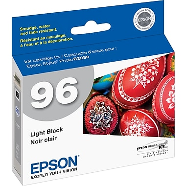 Epson® 96 (T096720) Ink Cartridge, Light Black