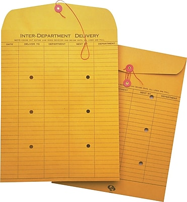 Quality Park String & Button One-Sided Standard Style Inter-Department Envelopes, 10