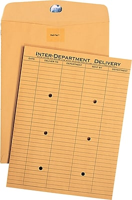 Quality Park Redi-Tact One-Sided Standard Style Inter-Department Envelopes, 10