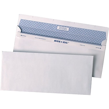 Quality Park™ #10 Reveal-N-Seal® Security-Tint Business Envelopes, 500/Box
