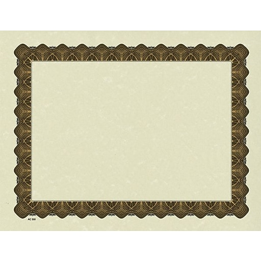 great papers parchment certificate paper with metallic gold border