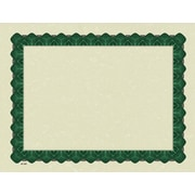 Great Papers® Parchment Certificate Paper with Metallic Green Border, 100/Pack