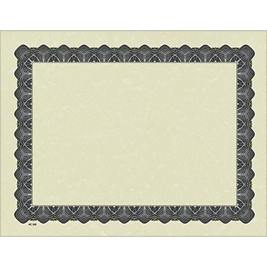 Great Papers® Parchment Certificates with Metallic Silver Border, 25/Pack