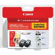 Canon® PG-210XL/CL-211XL High Yield Inkjet Cartridges Photo Value Pack, Black/Color, Multi-pack (2 cart per pack) (2973B004)