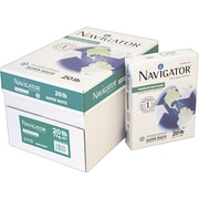 "Navigator® Premium Recycled Multipurpose Paper, White, 8 1/2""W x 11""L, 5000/Ctn"