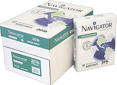 Navigator® Premium Recycled Multipurpose Paper, White, 8 1/2