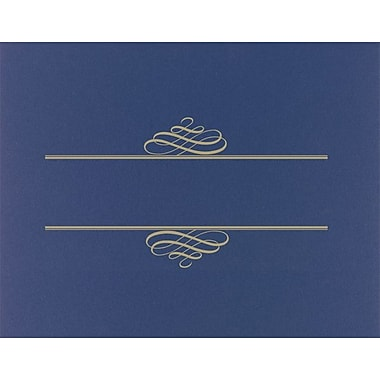 Great Papers® Foil Enhanced Certificate Covers, Navy, 5/Pack