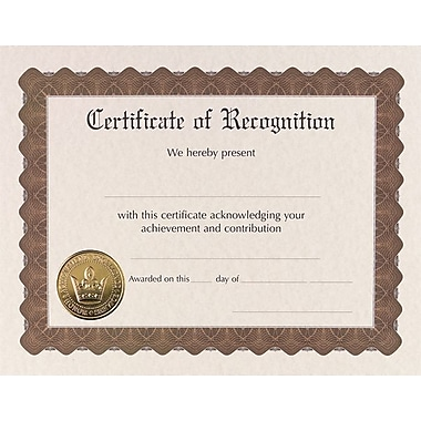 Great Papers® Recognition Certificate, 18/Pack