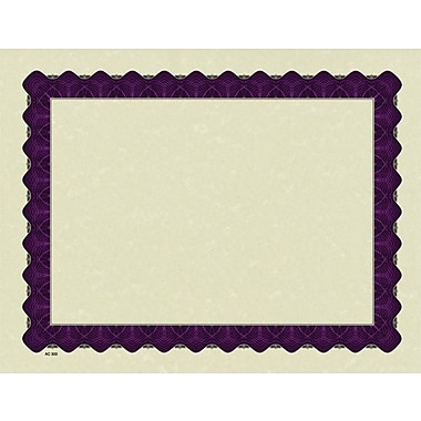 Great Papers® Parchment Certificates with Metallic Purple Border, 25/Pack