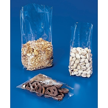Flat Style Cellophane Bags, #195 Gauge, 3-1/2