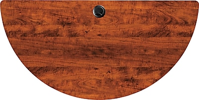 Alera Valencia Series 4' Half Round Woodgrain Laminate Training Table Top, Medium Cherry