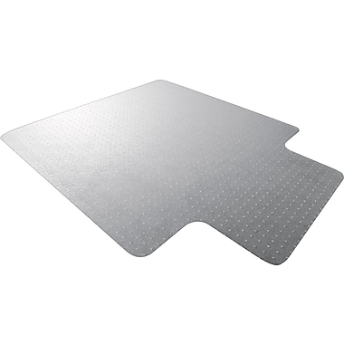 Floortex Polycarbonate 53''x48'' Polycarbonate Chair Mat for Carpet, Rectangular w/Lip (1113432LR)