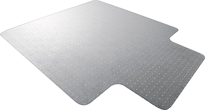 Floortex Ultimat 53''x 48'' Polycarbonate Clear Chair Mat for Carpet, Rectangular with Lip (1113423LR)