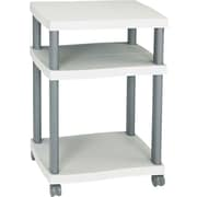 Safco® Wave Design Mobile Desk-Side Printer Stand, Gray/Charcoal