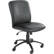 Safco Uber Big & Tall Fabric Computer and Desk Office Chair, Armless, Black (3490BV)