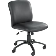 Safco Uber Big & Tall Fabric Computer and Desk Office Chair, Adjustable Arms, Black (3491BV)