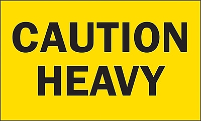 Staples Caution Heavy Special Handling Label, 3
