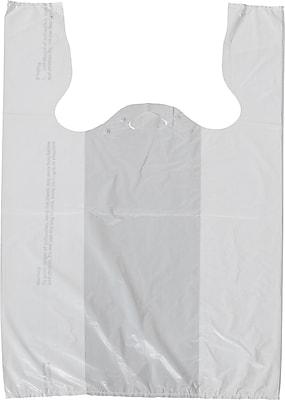 Staples T-Shirt Bags, White, 11-1/2