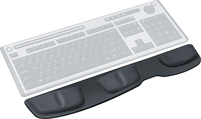 Fellowes Leatherette Black Keyboard Palm Support (9182501)