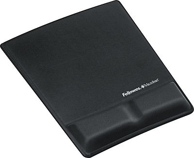 Fellowes® Mousepad Wristrests with Microban®, Black