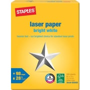 "Staples Laser Paper, 8 1/2"" x 11"", Bright White, Ream"