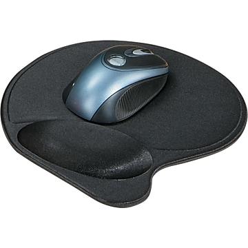 Kensington® Wrist Pillow® Gel Mouse Pad Wrist Rest, Ergonomic, Black (KMW57822)
