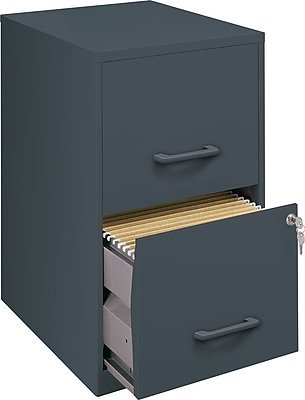 Elegant 2 Drawer Plastic File Cabinet