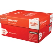 "Staples® Legal Size Paper, 20 Lb., 92 Bright, 8 1/2"" x 14"", White, 10-Ream Case (221193)"