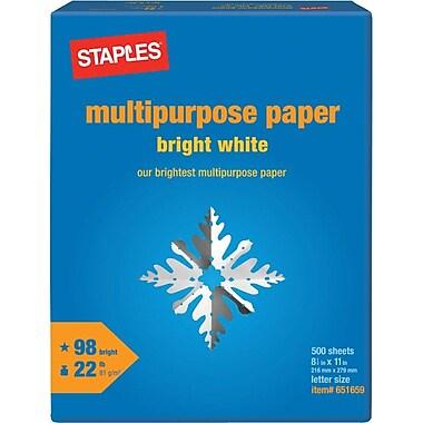 Staples Multipurpose Paper, 8 1/2